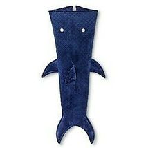"""Pillowfort -Shark Tail Wearable Blanket, Blue, Size 66"""" x 50"""" -store- NEW W/TAGS image 3"""