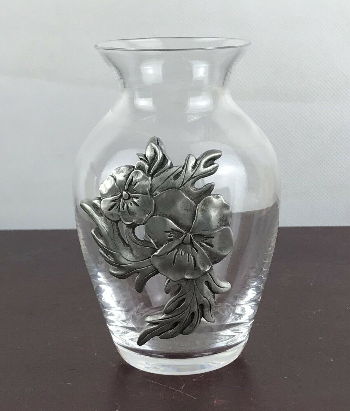 Primary image for Holly Sue Small  Glass Vase With Metal Decor