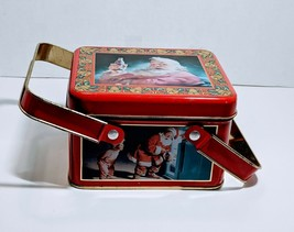 Santa Coca Cola Tin With Handles 1994 Pre-owned Red - $10.50