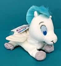 "Disney Store Hercules Baby Pegasus White Blue Hair 8"" Mini Bean Bag Plush w/ Tag - $11.95"