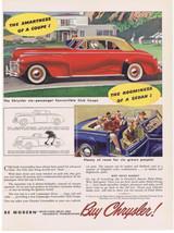1941 CHRYSLER CONVERTIBLE CLUB COUPE 6 passenger Print Ad  - $9.99