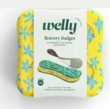 Welly Bravoure Badges Standard Flex Tissu Motif Floral Bandages 48ct - $12.17