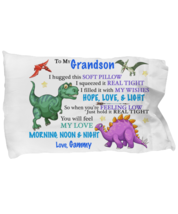 To My Grandson Pillowcase Gift From Gammy Grandmother Pillow case Covering  - $23.99