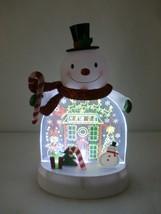 Hallmark 2011 North Pole Dancing Lights Snowman Light Up Christmas Table... - $45.00