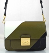 AUTHENTIC NEW NWT MICHAEL KORS $298 LEATHER SLOAN EDITOR GREEN MESSENGER... - $85.00
