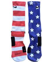 Custom All American Nike Elite Socks ALL Sizes Fast Shipping - $23.99