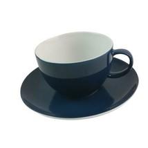 Thomas Rosenthal Dark Blue Tea Cup & Saucer Germany Vtg 1960s - $20.78
