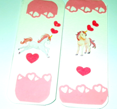 NEW Unicorn Bookmarks, handmade with stickers 1 per Order - $2.07