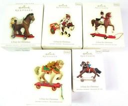 NEW 5 Hallmark Christmas Ornaments A Pony For Christmas Series 2006 - 2010 - £23.79 GBP