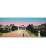 PARIS in 1900s Beautiful Chromotype Photo - Gardens Jardins des Tuileries  - $19.80