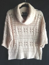 United States Sweater Women's Size Large Open Weave Knit Champagne Color... - $4.97