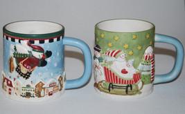 2 Debbie Mumm Mug Winter WonderLand BrownLow Santa Sled Chrismas GW7914  - £19.45 GBP