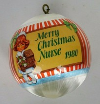 Vinatage Rare L'infirmiere Goebel Canada  Nurse Merry Christmas ORNAMENT... - $23.20