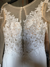New Sexy Deep V Backless Lace Appliques Illusion Mermaid Wedding Dress image 3