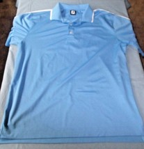 Footjoy Men's Sky Blue Golf Short Sleeve Polo Size XL - $19.57
