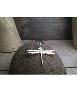 """Dragonfly Pendant - Sterling Silver on 18"""" Sterling Silver Chain - Item: D1 - $78.00"""