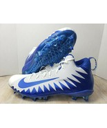 Nike Alpha Menace Pro MID Football Cleats Royal Blue/White Size 16 - $23.26