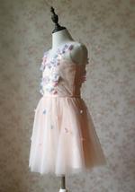 Flower Girl Dress, Sleeveless High Waist Girl Dress Princess Dress - Blush Pink  image 4