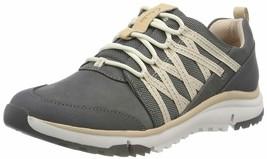 Clarks Tri Trail Dark Grey Leather Nubuck Women's Athletic Sneakers 35108 - $80.00