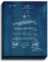 Water Skis Patent Print Midnight Blue on Canvas - $39.95+