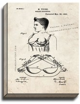 Breast Supporter Patent Print Old Look on Canvas - $39.95+