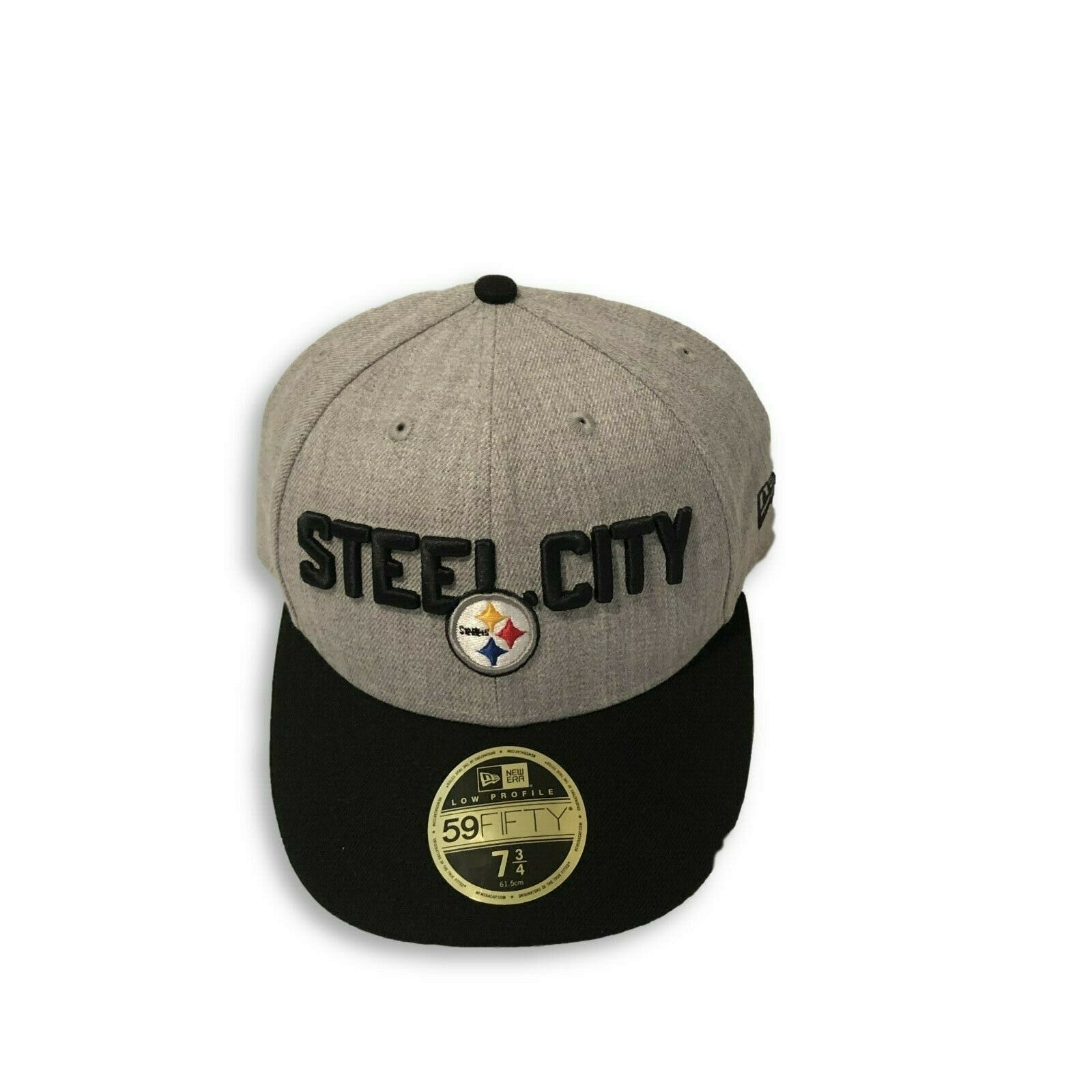 NWT New Pittsburgh Steelers New Era 59Fifty Low Profile Draft Size 7 3/4 Hat