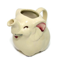 Vintage Elephant Creamer Shawnee USA Ceramic Shabby Kitchen Decor Planter - $23.74