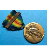 WWI, VICTORY MEDAL, w/NAVY OPERATIONAL CLASP, DESTROYER, FULL WRAP BROOCH - $123.75