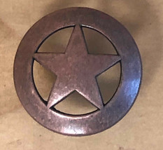 Set of 6 Star Drawer Pull, Antique Copper in Color, Cabinet Knobs - $19.79