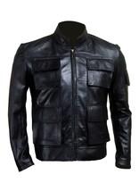 Han Solo Smuggler Celeb Style Replica Men Leather Jacket
