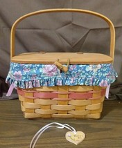 Longaberger 1991 Mother's Day Purse Basket With Fabric Liner Protector &... - $38.00