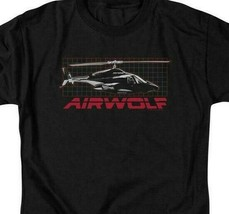 Airwolf helicopter t-shirt retro 80's action TV series adult graphic tee NBC501 image 2