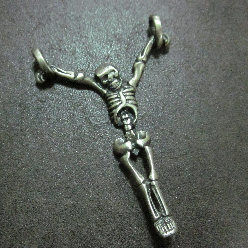 Fashion Mens Jewelry Pendants Skeleton Corpse Hanged man Zombie Halloween Theme