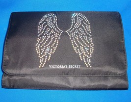 Victoria's Secret Fashion Show Bling Angel Wings Tri Fold Make Up Travel Bag New - $18.76