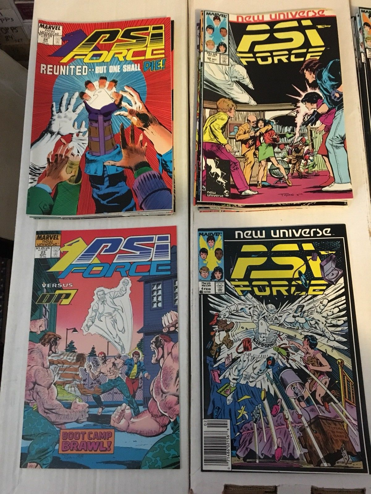 PSI Force 1 - 32 New Universe Marvel Comic Book COMPLETE SET Of 33 1986-89 VF+