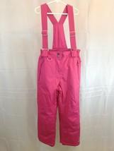 Weatherproof 32° Degrees Snow Pants With Suspenders Pink Girls Medium 10... - $23.74