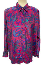 Vintage Alfred Dunner women's blouse top long sleeve polyester size 40 - $18.58