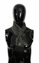 Dolce & Gabbana Mens Green Baroque Fringe Wrap Shawl Silk Scarf 167cm x ... - $276.21
