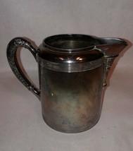 Vintage Antique Silver Plate Pitcher Hartford 1409 Botanic - $98.99