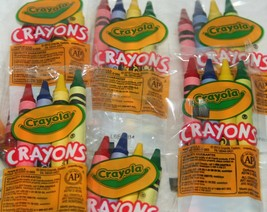 Lot Genuine Crayola 4 Count Packs of Cello Crayons Restaurant Packs New, 7 Packs - $6.49
