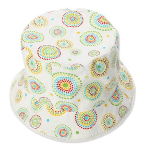 Green Dots Baby Girl Sun Cap Infant Floppy Summer Hat Toddle Bucket Hat 51 cm