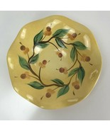 Southern Living Gail Pittman Acorn Pattern Hand Painted Fluted Serving Bowl - $22.76