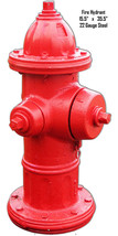 Fire Hydrant Wall Art Laser Cut Out Metal Sign 15.5x35.5 - $69.30
