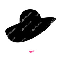 Lady in Hat DIGITAL File: Instant Download.  No Physical Product Shipped.  PNG &