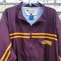 Champion Minnesota Golden Gophers Nylon Maroon Windbreaker Jacket Men's L - $21.31