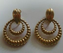 Vintage Signed Vendome Door-Knocker Clip-on Earrings Pat # 2809501 - $45.00