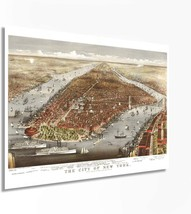 1876 New York City Poster - NYC Map Wall Art - Vintage Map of New York City with - $34.99+