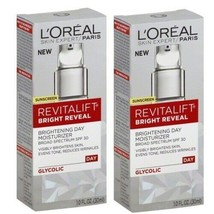 2 BOXES Loreal Revitalift Bright Reveal Day Moisturizer Sunscreen 08/20 ... - $19.79