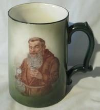 Victor Carlstad Pottery Austria Monk Beer Mug Green - $32.56