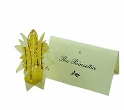Danbury Mint 24k gold Christmas ornament vtg holiday figurine coa Poinse... - $24.14